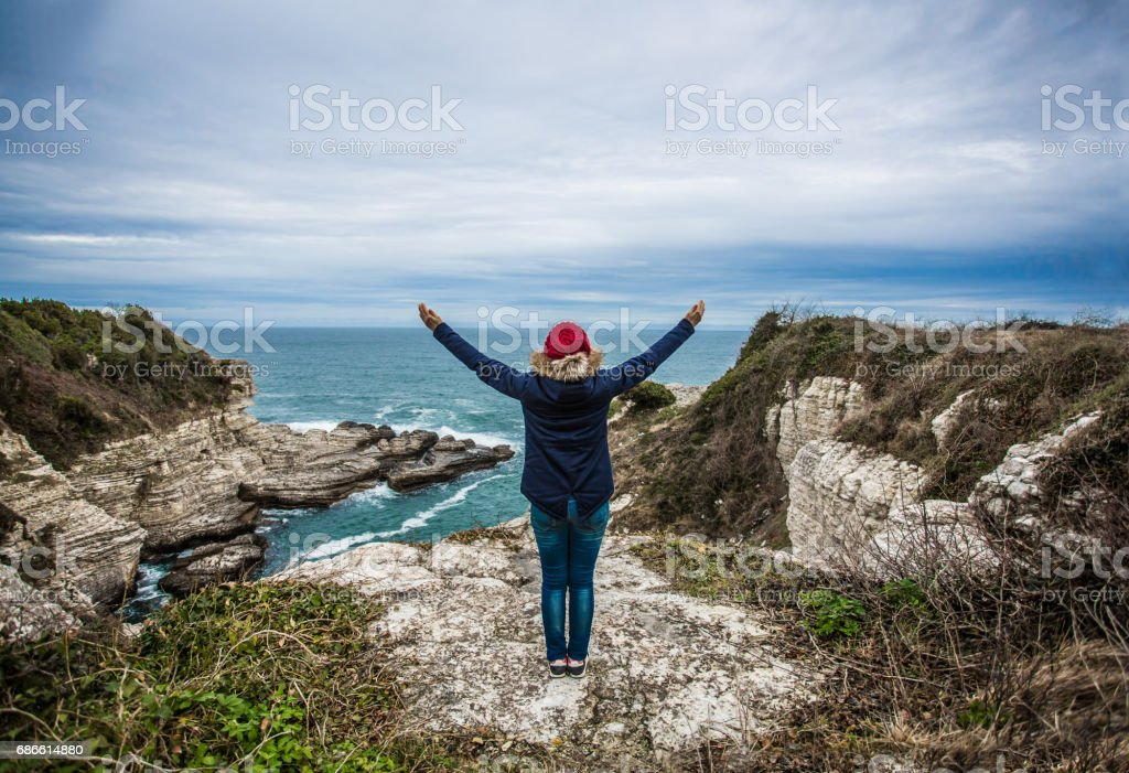 Embracing life over the valley royalty-free stock photo