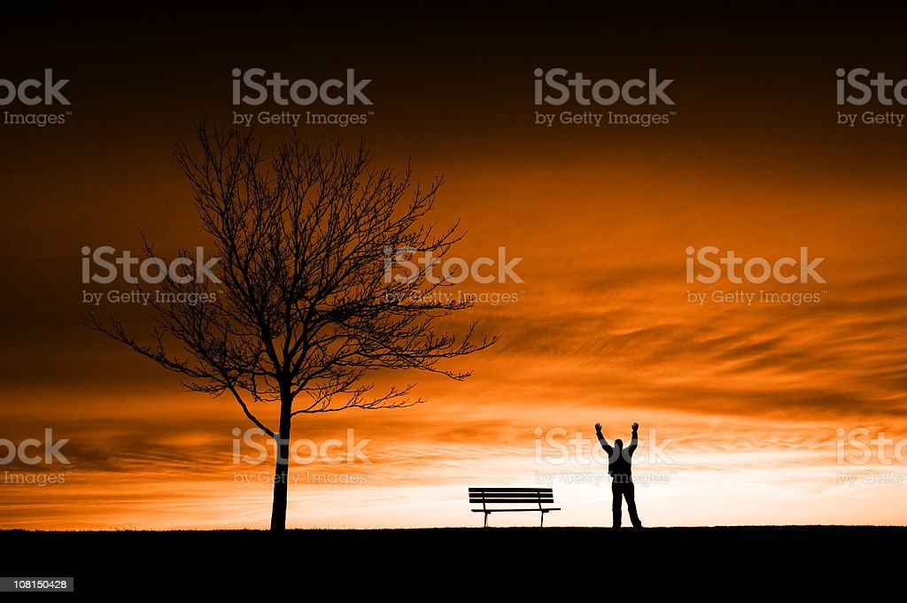 Embracing the Apocolypse royalty-free stock photo