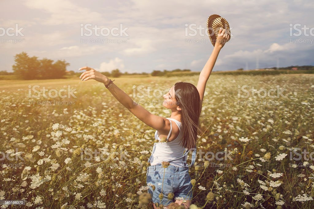 Embracing The Good stock photo