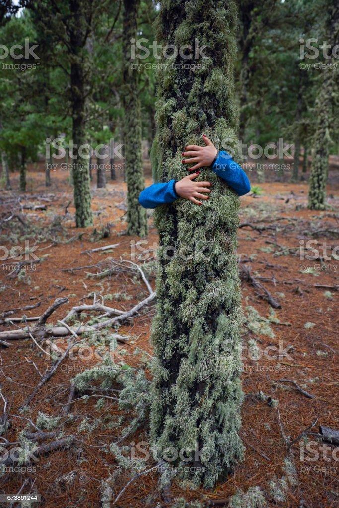 doğa kucaklayan royalty-free stock photo