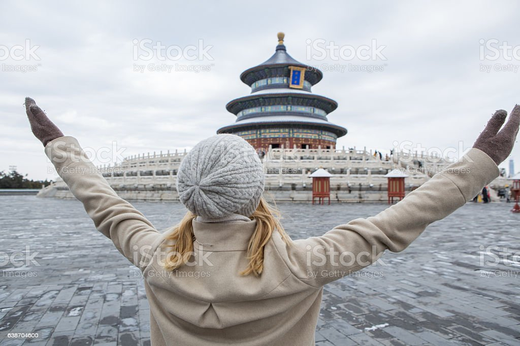 Embracing travel stock photo