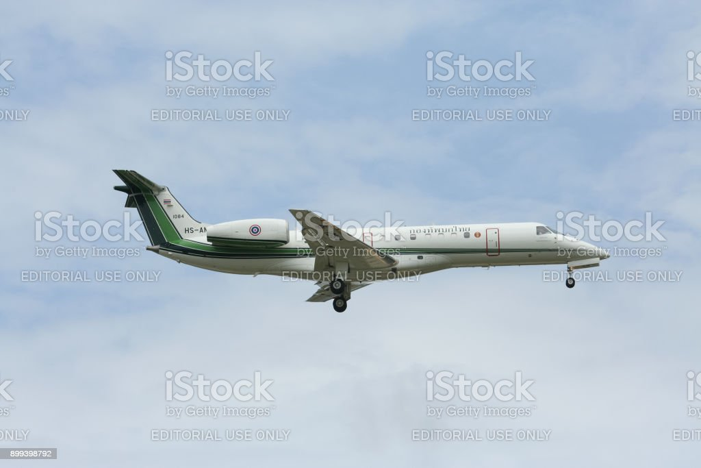 HS-AMP Embraer ERJ-135 of Royal Thai Army. stock photo