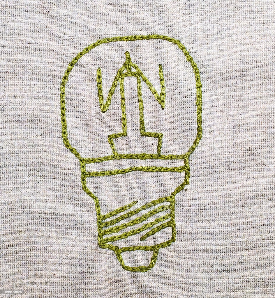 Embroided bulb royalty-free stock photo