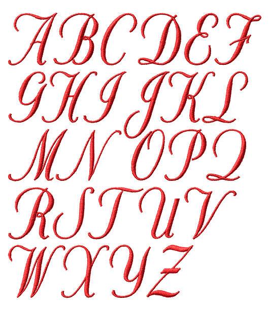 embroidered alphabet - ruth 個照片及圖片檔