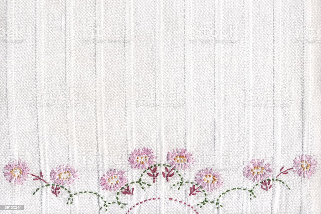 embroidered background royalty-free stock photo