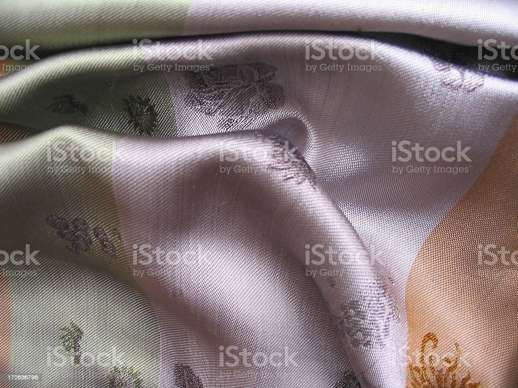 Embroidered Chinese Silk 3 royalty-free stock photo