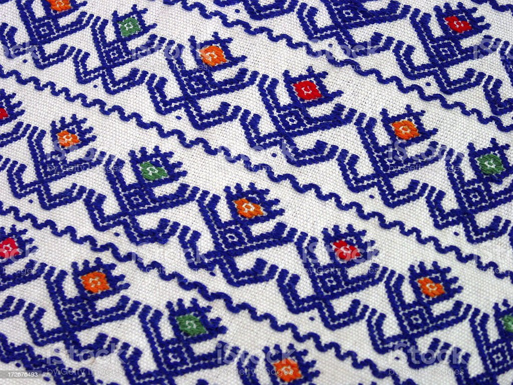embroidered cloth royalty-free stock photo