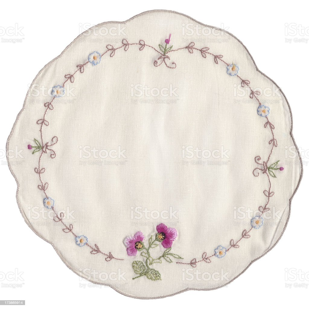 Embroidered Doily stock photo
