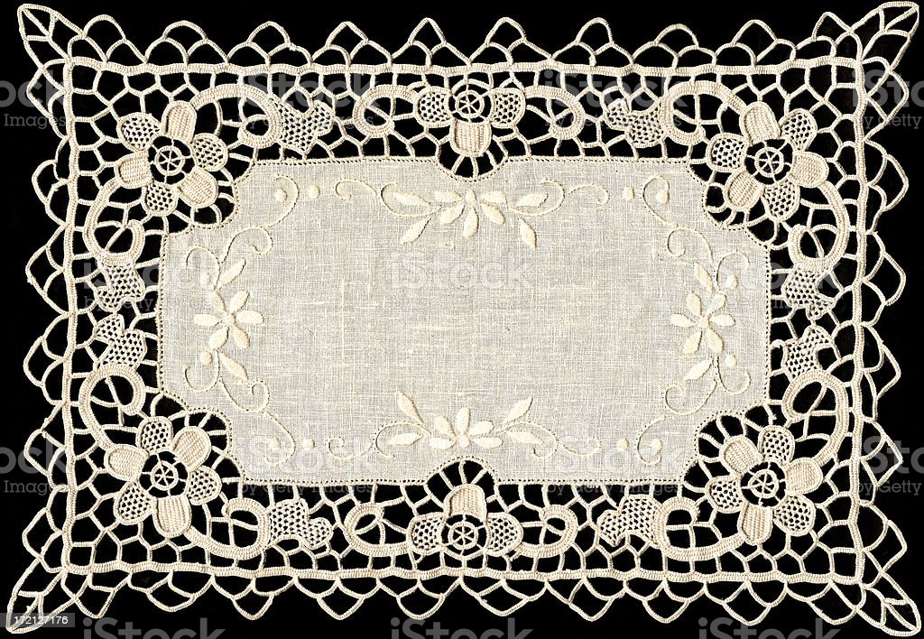 Embroidered linen royalty-free stock photo