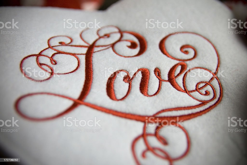 Embroidered Love royalty-free stock photo