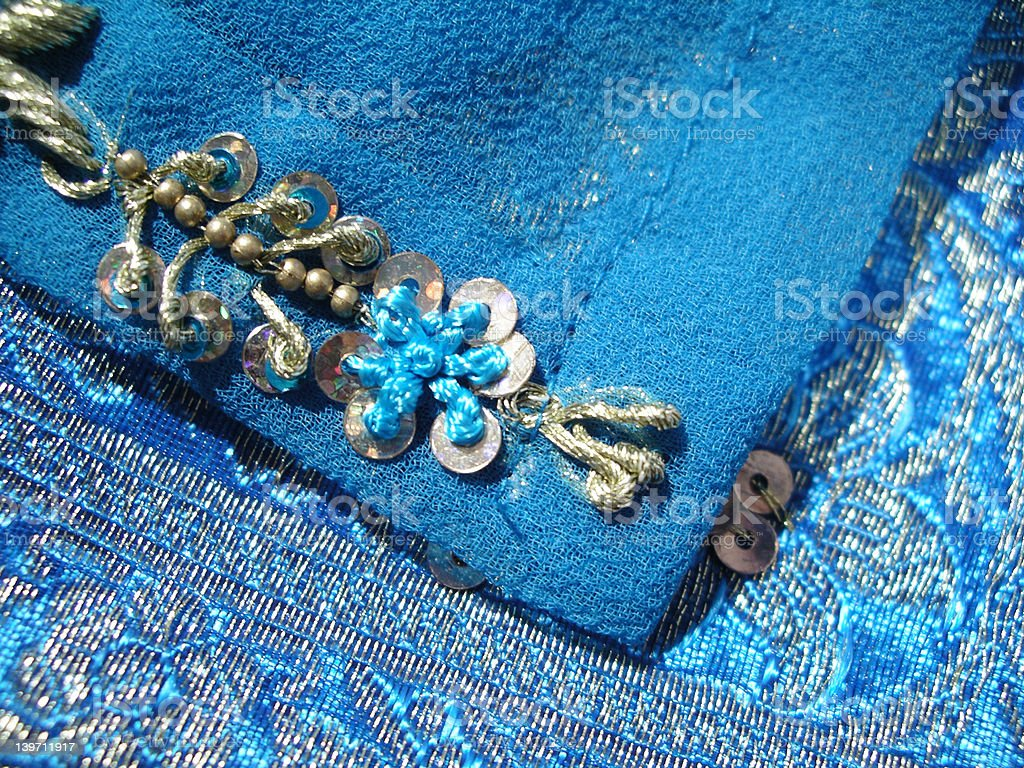Embroidered silk royalty-free stock photo