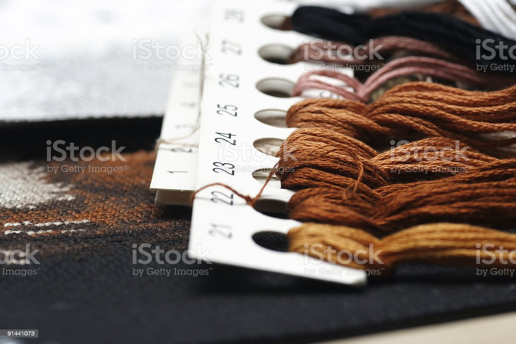 Embroidery (cross stitch) #3 royalty-free stock photo