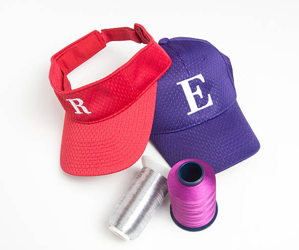 Embroidery and Hats stock photo