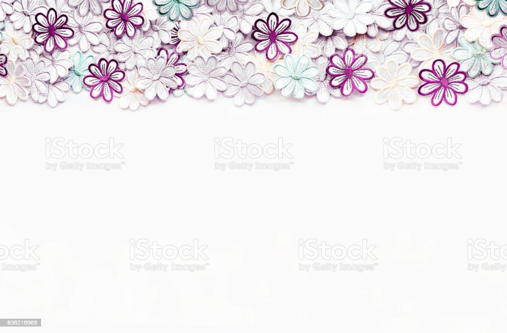 Fotografía de Flores De Colores Bordado Patrón De Textura Y Fondo ...