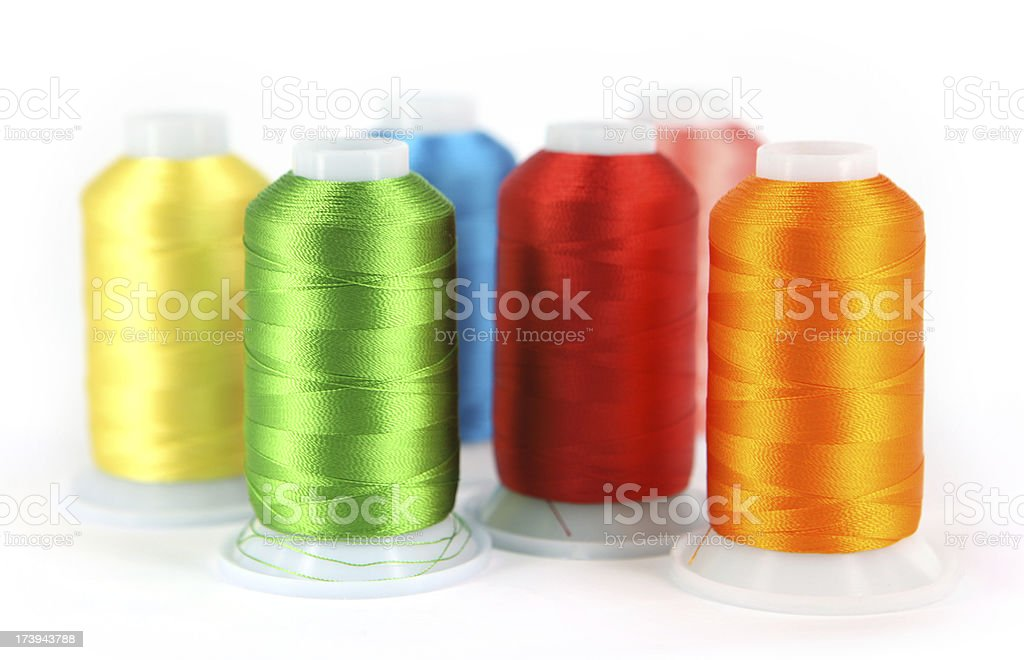Embroidery Cottons royalty-free stock photo