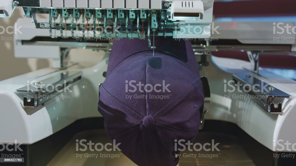 Embroidery Deals logo on the Cap foto stock royalty-free