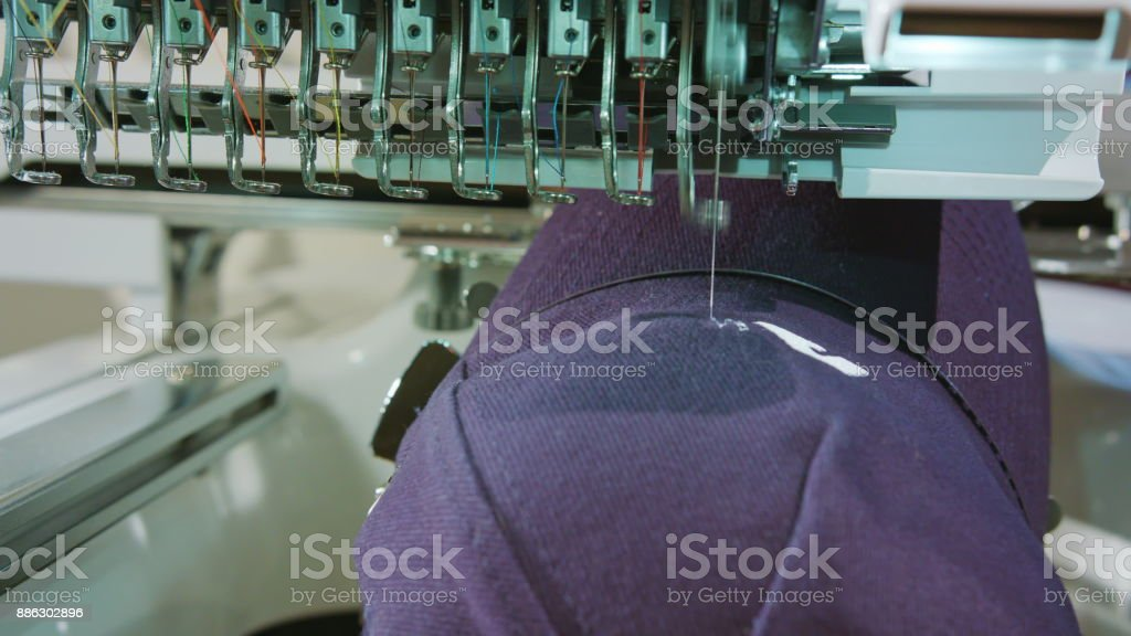 Embroidery Deals logo on the Cap stock photo