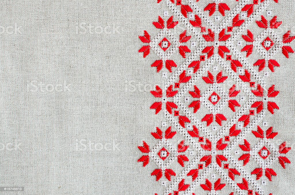 Fotografía de Embroidery Design By Red And White Threads Christmas ...