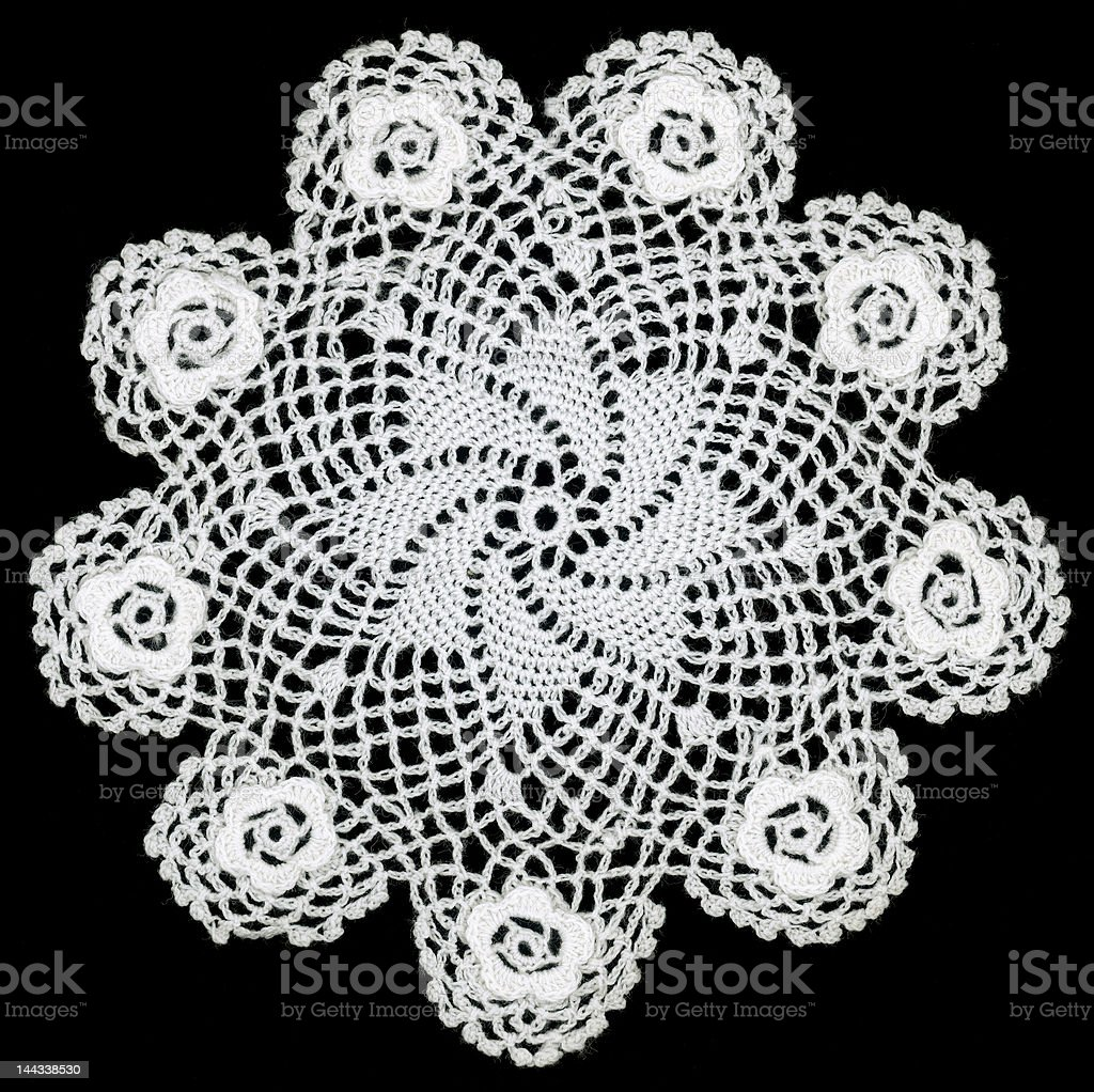 Embroidery Doily stock photo