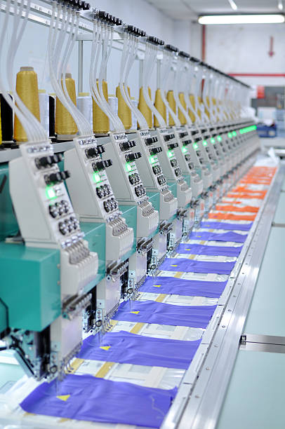 embroidery equipment - embroidery machine stock pictures, royalty-free photos & images