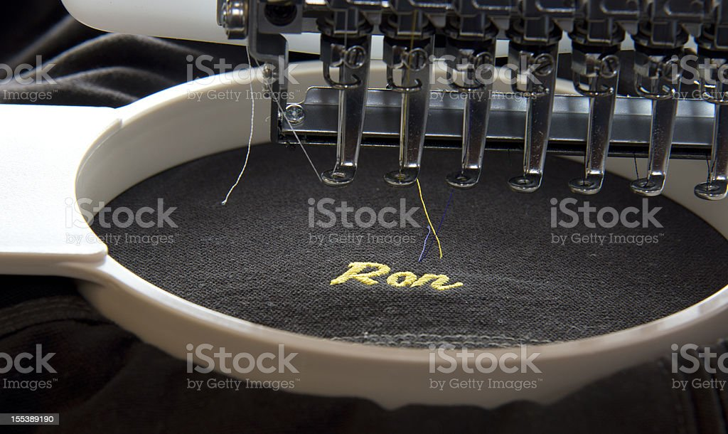 Embroidery machine stock photo