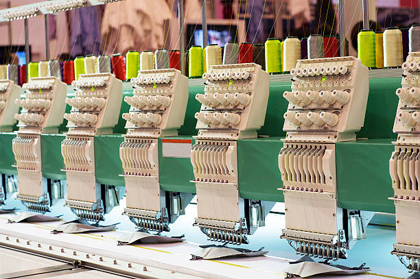 embroidery machine - embroidery machine stock pictures, royalty-free photos & images
