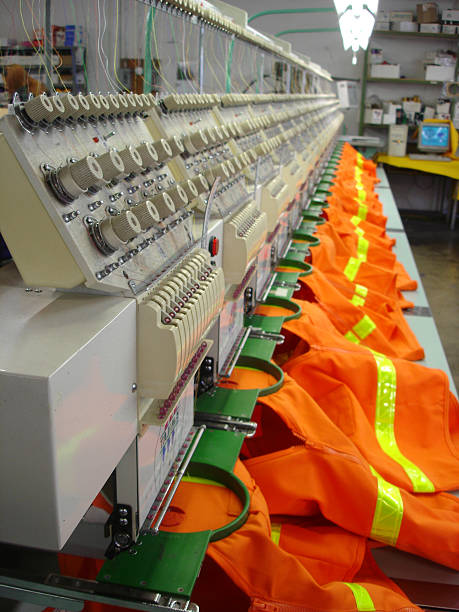 embroidery machine safety - embroidery machine stock pictures, royalty-free photos & images
