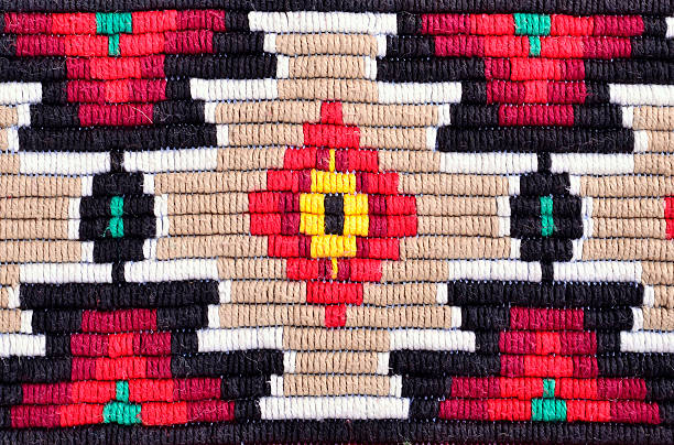 embroidery red tint traditional materials and bulgarian embroidery red tint folk music stock pictures, royalty-free photos & images