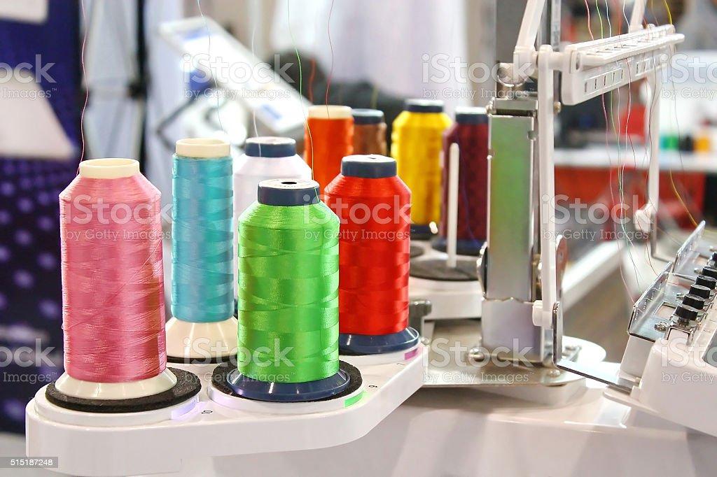 Embroidery Silk stock photo