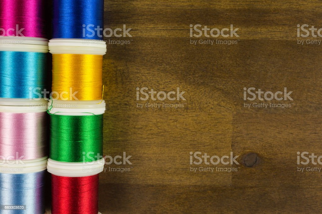 embroidery threads foto stock royalty-free