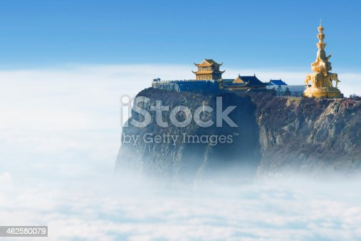 Emeishan Jinding temple at 3000m above sea level in Sichuan,, China