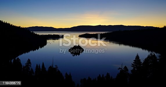 Central California's High Sierra Range. Lake Tahoe National Forest/SW. Emerald Bay At Sunrise.