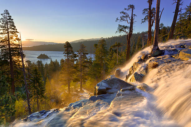 Emerald Bay sunrise, Lake Tahoe stock photo