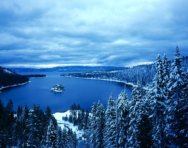 Emerald Bay Winter stock photo
