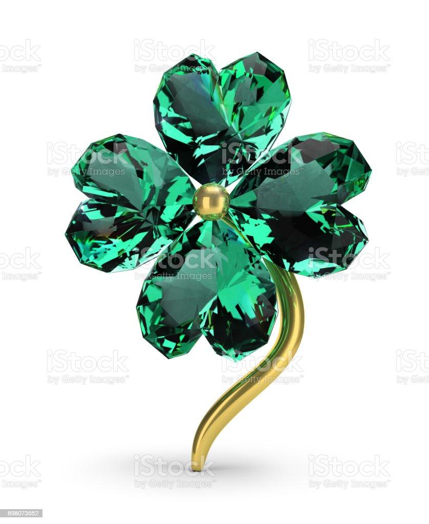 emerald clover стоковое фото