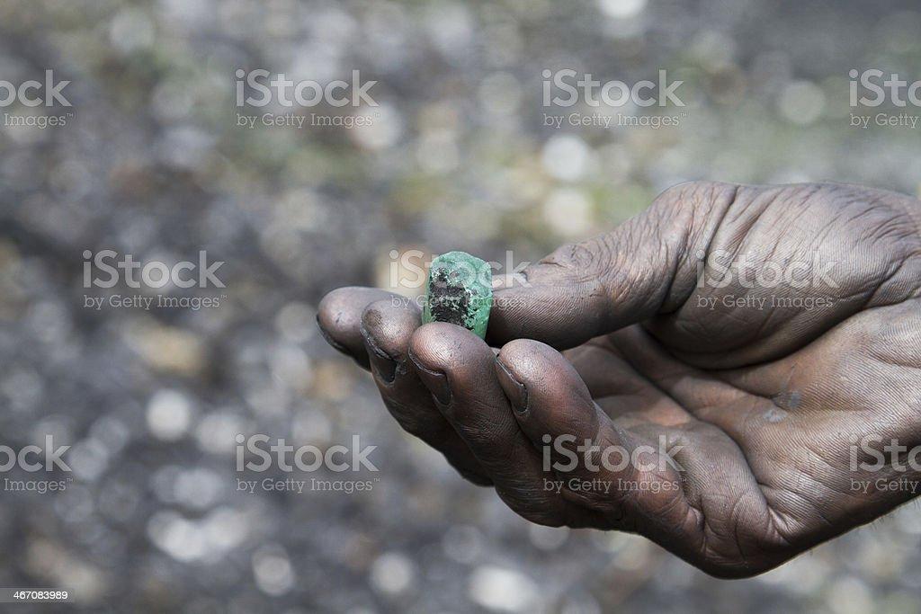 Emerald, Colombia stock photo
