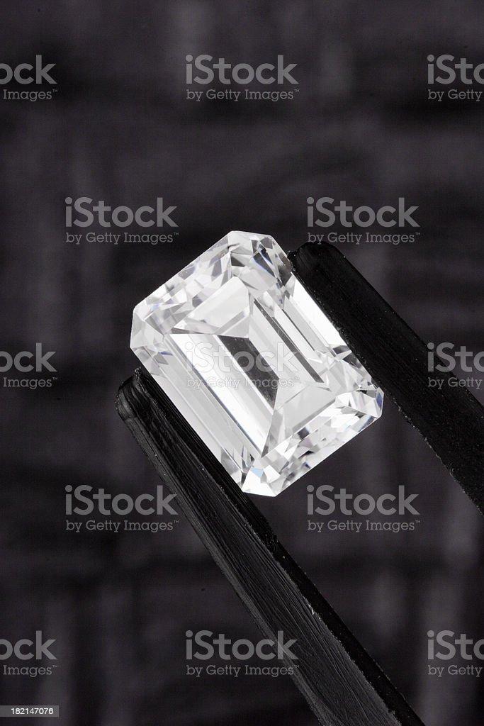 Emerald Cut Diamond royalty-free stock photo