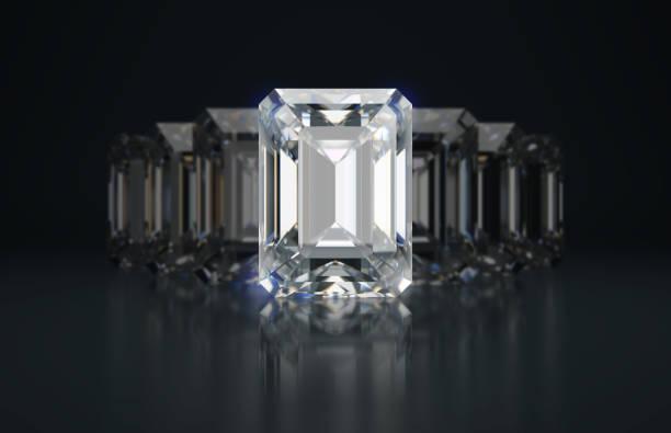Cтоковое фото emerald cut diamonds