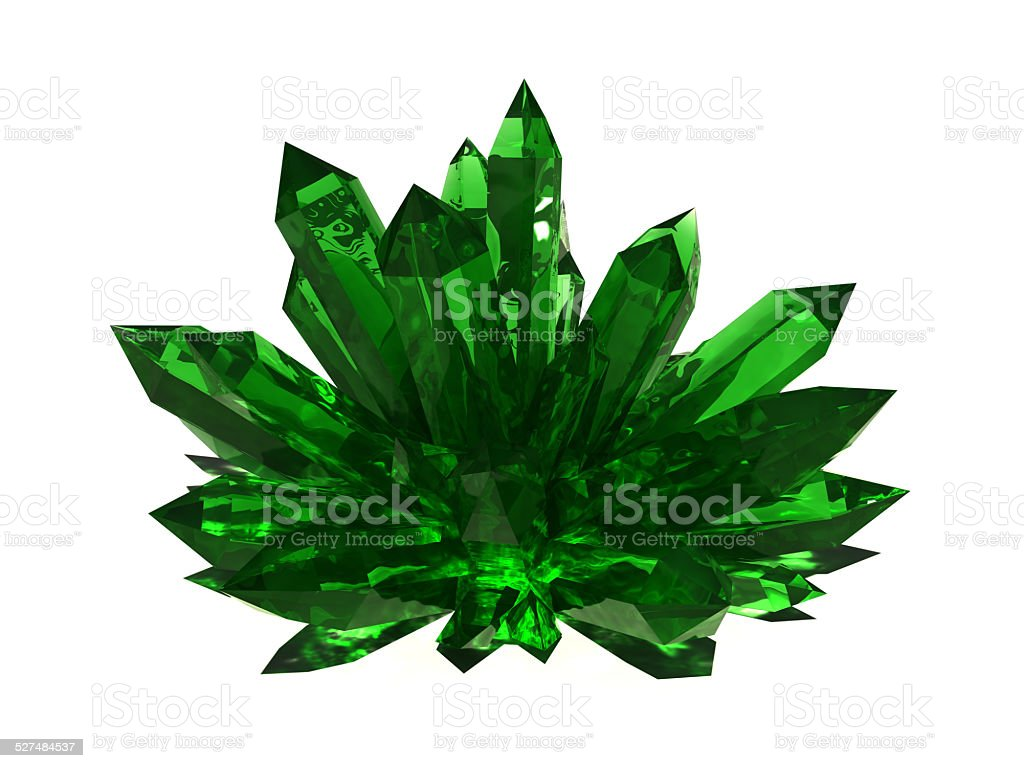 Emerald druze stock photo