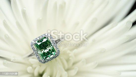 istock Emerald Engagement Jewelry Ring 1133110138