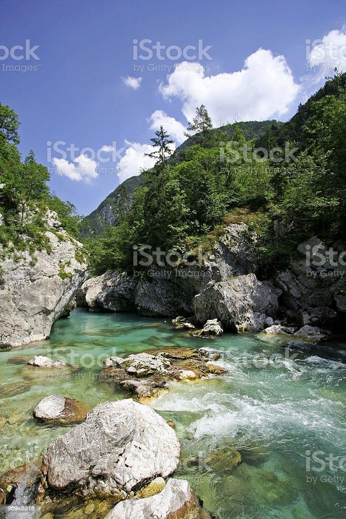 emerald green Soca river royalty-free stock photo
