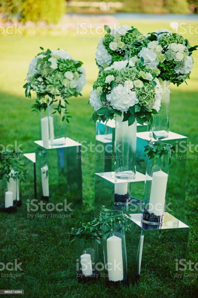 Emerald Green Wedding Decoration On Reception Zone Before