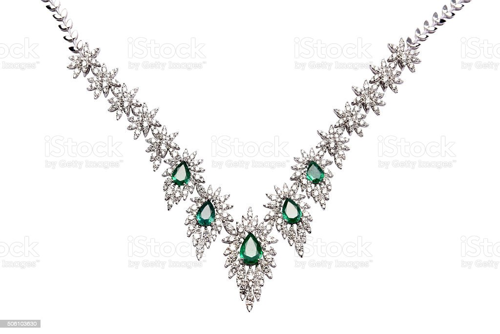Emerald jewelry stock photo