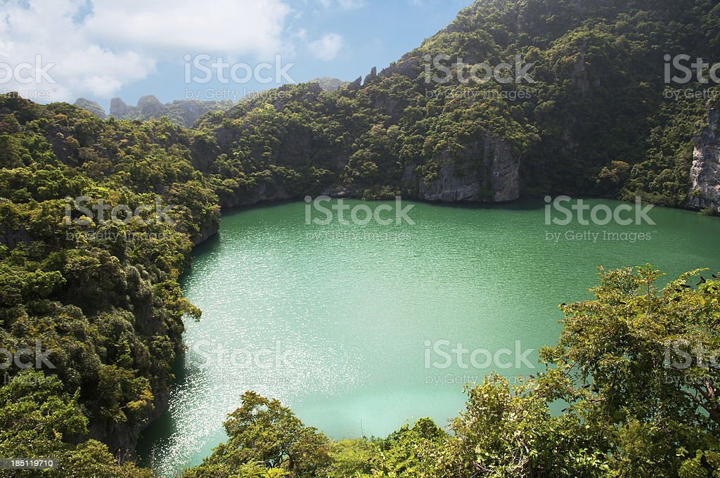 Emerald lagoon stock photo