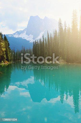 istock Emerald lake at spring morning. Yoho National park. 1289551024
