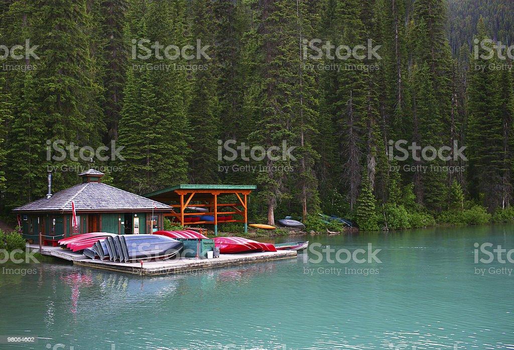 Emerald lake, Banff National park, Canada royalty-free stock photo