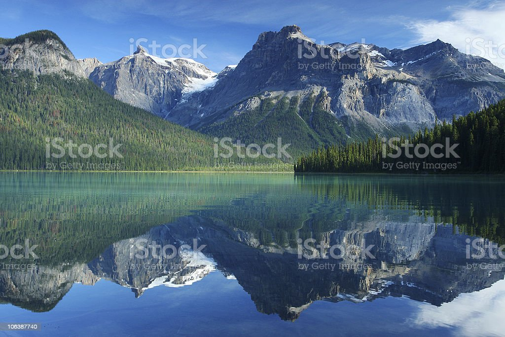 Emerald lake in Yoho national Park Canadian Rockies Emerald lake in Yoho national Park Canadian Rockies Beauty In Nature Stock Photo