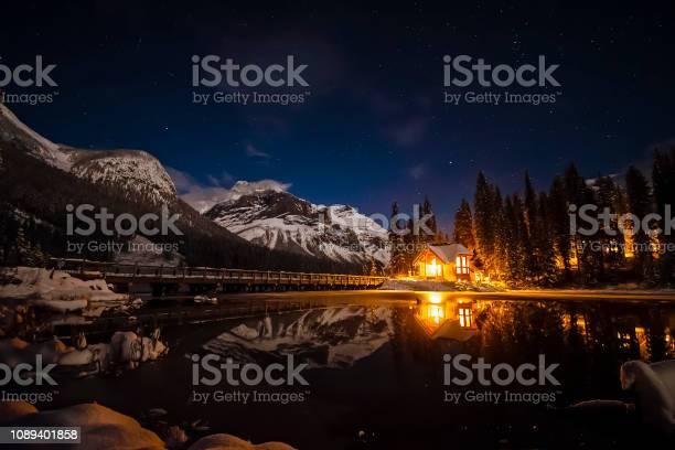 Photo of Emerald Lake Lodge at Night