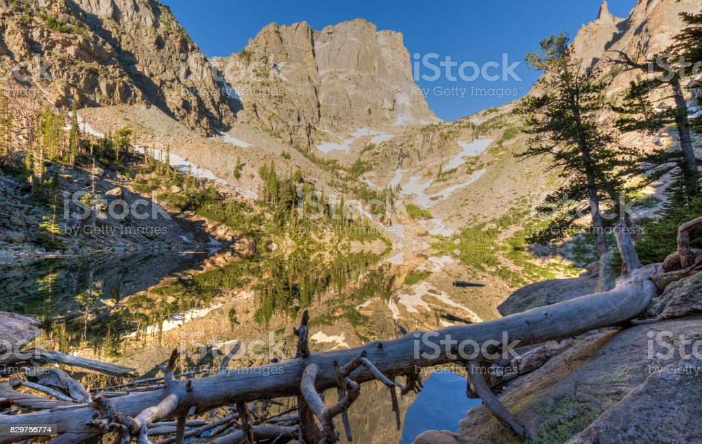 Emerald Lake Mirror stock photo