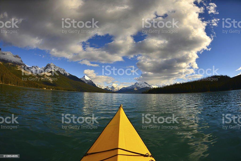 Emerald Lake Paddling stock photo